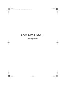 Acer ALTOS G610 User's Manual