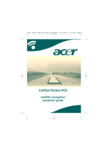 Acer CoPilot Pocket PC6 Quick Start Guide