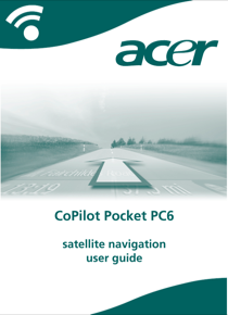 Acer CoPilot Pocket PC6 User Guide