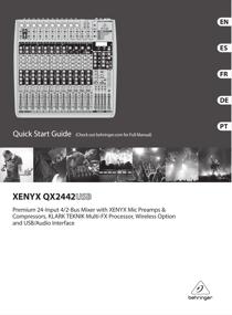 Behringer Xenyx QX2442USB User's Manual