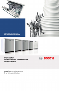 Bosch SHP865WD5N Instruction Manual