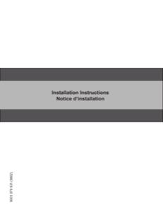 Bosch SPE53U52UC Installation Instructions