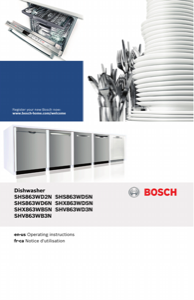 Bosch SHS863WD5N Instruction Manual