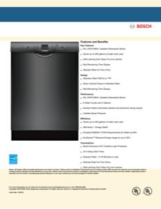 Bosch SHEM3AY56N Specification Sheet