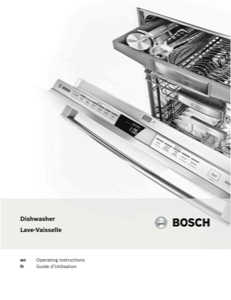 Bosch SGV68U53UC Instruction Manual