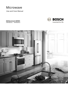 Bosch HMV8053U Instruction Manual