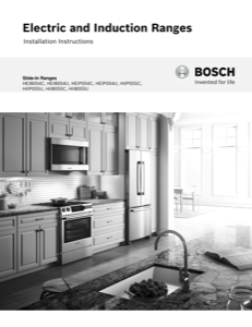 Bosch HIIP055U Installation Instructions