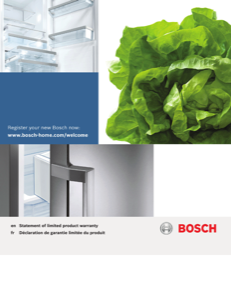 Bosch B30IR800SP Supplemental Information