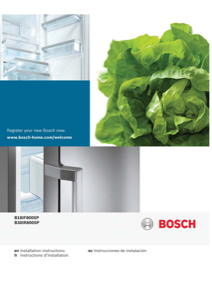 Bosch B30IR800SP Installation Instructions