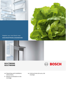 Bosch B21CT80SNB Instruction Manual