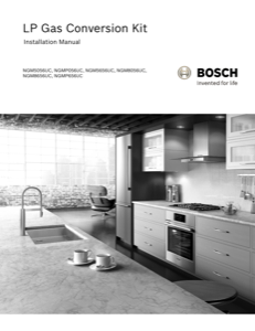 Bosch NGM5656UC Installation Instructions