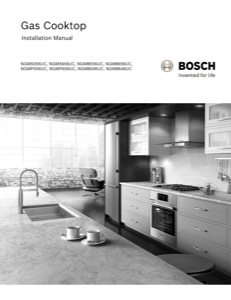 Bosch NGM8646UC Installation Instructions