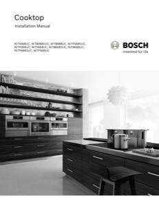Bosch NIT8668UC Installation Instructions