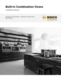 Bosch HBL57M52UC Installation Instructions