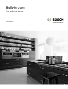 Bosch HBE5451UC Instruction Manual