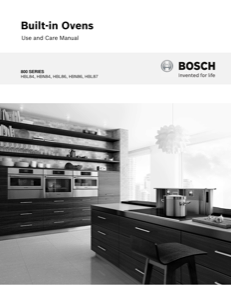 Bosch HBL8442UC Instruction Manual