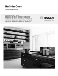 Bosch HBL8442UC Installation Instructions