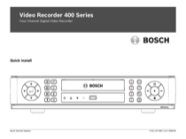 Bosch Bosch Appliances DVR 400 User's Manual