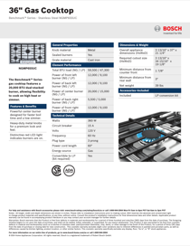 Bosch NGMP655UC Product Information