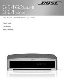 Bose 3-2-1 SERIES II User's Manual