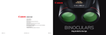 Canon 15 x 50 IS All Weather Brochure