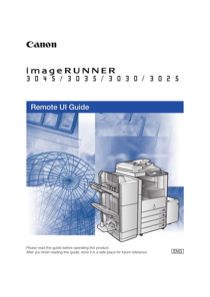 Canon 3045 User's Manual