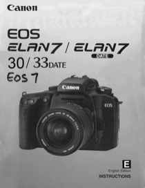 Canon EOS 7 Operating Instructions