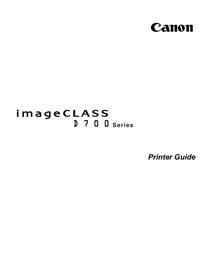 Canon imageCLASS D780 Printing Guide