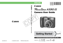 canon powershot a590 is user s manual free pdf download 211 pages rh manualagent com canon powershot a590 user manual download Canon A590 Wrist Strap