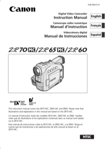 canon zr60 instruction manual free pdf download 158 pages rh manualagent com Canon EOS 650 Manual Canon EOS Digital Rebel DS6041 Manual