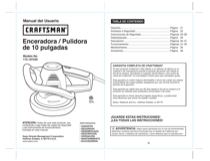 Craftsman 10 in. Buffer/Polisher Owner's Manual (Espanol)