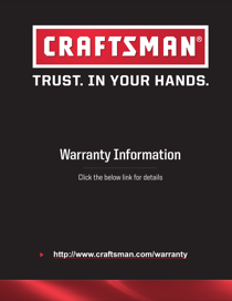 Craftsman 14 in. Replacement Hickory Hammer Handle Manufacturer's Warranty