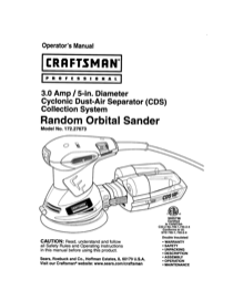 Craftsman 172.27673 User's Manual