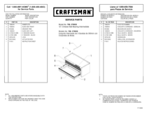 Craftsman 26 in. 3-Drawer Heavy-Duty Ball Bearing Middle Chest - Black Service Parts