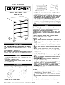 Craftsman 26 in. 4-Drawer Standard Duty Ball Bearing Rolling Cabinet - Black Service Parts