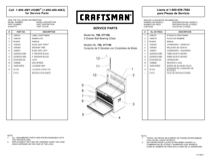 Craftsman 26 in. 5-Drawer Heavy-Duty Ball Bearing Top Chest - Red/Black Service Parts