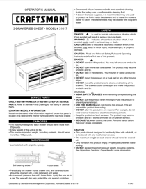 Craftsman 26 in. Wide 3-Drawer Standard Duty Ball-Bearing Top Chest - Black Service Parts