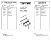 Craftsman 26 in. Wide 3-Drawer Standard Duty Ball-Bearing Top Chest - Black Use & Care Manual