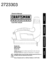 Craftsman 2723303 836.27233 User's Manual