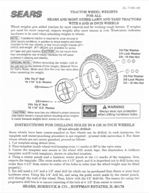 Craftsman 30 lb. Wheel Weights Owner's Manual