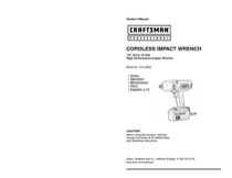 Craftsman 310.26825 Owner's Manual