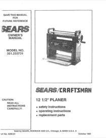 Craftsman 351.233731 Owner's Manual