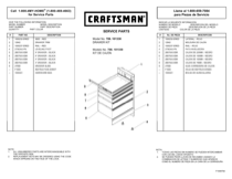 Craftsman 5-Drawer Workbench Module - Red/Black Service Parts