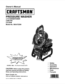 Craftsman 580.6722 Owner's Manual