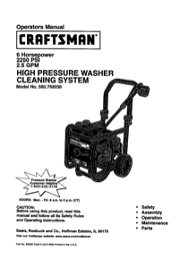 Craftsman 580.76803 Operator's Manual