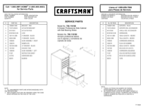 Craftsman 6-Drawer Heavy-Duty Ball Bearing Side Cabinet - Red/Black Service Parts