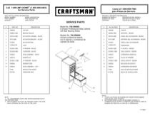 Craftsman 6-Drawer Premium Heavy-Duty Side Cabinet - Black Service Parts