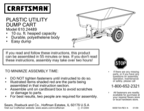 Craftsman 610.24489 User's Manual