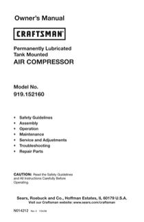 Craftsman 919.15216 User's Manual