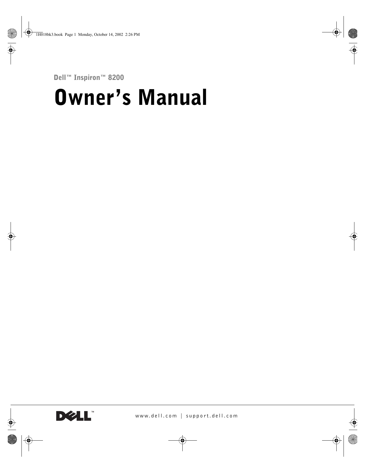 dell inspiron 8200 service manual free pdf download 80 pages rh manualagent com Dell Inspiron 8200 Battery Changing Dell Inspiron 8200 Battery